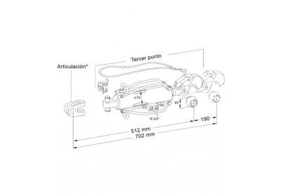 Tercer Punto Hidraulico Hasta 150 CV Extra Corto