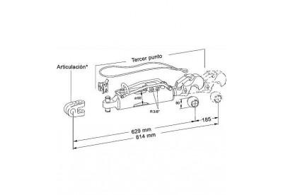 Tercer Punto Hidraulico Hasta 250 CV Corto