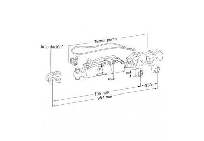 Tercer Punto Hidraulico Hasta 250 CV Standar