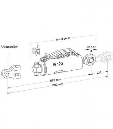 Tercer Punto Hidraulico Hasta 300 CV