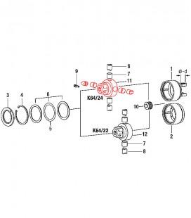 Cuerpo Principal K64 / 22-24 Embrague Automatico Transmision Cardan Walterscheid