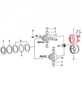 Horquilla Carcasa para Embrague Automatico K64/ 22-24 transmision cardan