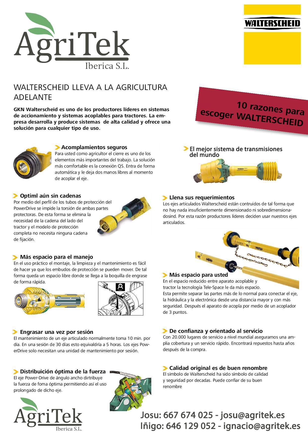 10 razones para elegir walterscheid